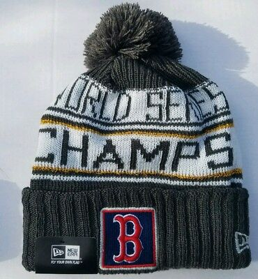 Boston Red Sox New Era 2018 World Series Champions RARE POM Knit Hat SHIPS TODAY