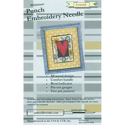 Ctr Needleworks Miniature Punch Embroidery Needle-black 6-strand