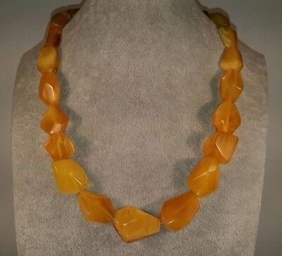 Amazing Antique 54gr Genuine Baltic Natural Butterscotch Egg Yolk Amber Necklace