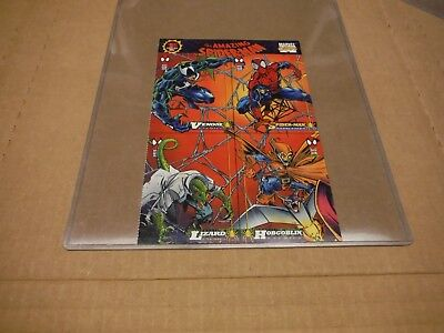 Amazing Spider - Man 1st Edition 1994 Marvel Card Sheet Venom Lizard Hobgoblin