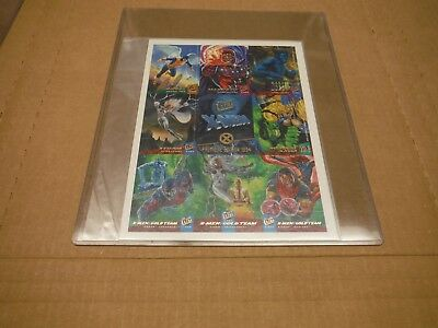 X-Men Premiere Edition 1994 Fleer Ultra Card Sheet Wolverine Hulk Magneto Storm