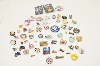 Lot of 60 Miscellaneous Mixture of Lapel Brooch Pin Backs