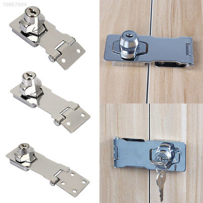 6E48 Buckles Drawer Lock Aluminum Alloy Silver Wooden Door Cabinet Lock