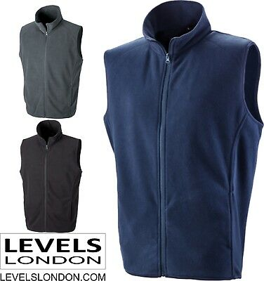 Men's Gilet micro fleece body warmer under armour lightweight winter Result 116X