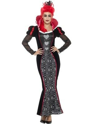 Deluxe Baroque Dark Queen Women's Fancy Dress Costume