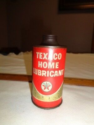 Vintage Texaco Home Round Lubricant 3 fluid oz. Wit Lid On