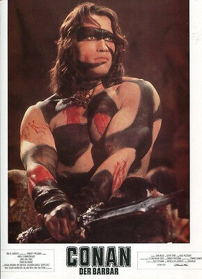 CONAN THE BARBARIAN - Lobby Cards Set of 24 - Arnold Schwarzenegger, S. Bergman
