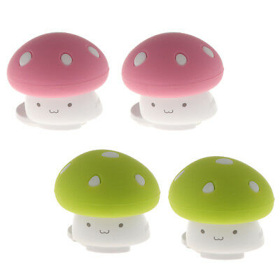 2 Pieces Soft Silicon Finger Pinch Guard Cartoon Mushroom Safety Door Stoppers