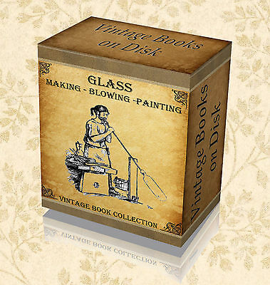 100 Rare Glass Blowing Books on DVD Making Painting Antique Collecting Art 34