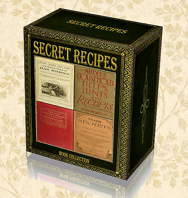 Trade Secret Recipes 200 Rare Books on DVD Old Household Tips Vintage Formula A6