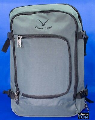e2c30711209 Hynes Eagle 40L Flight Approved Carry on Backpack Gray Travel Weekender  Duffle