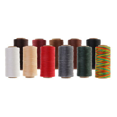 1 Roll 200m 1mm Polyester Waxed Thread Flat Waxed Cord String Sewing Crafts