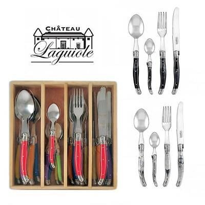 Chateau Laguiole French design Cutlery Set 24pc Stainless Steel Dinner Bulk
