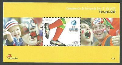 Portugal 2006 - European Football Cup, Under 21, UEFA Portugal S/S MNH