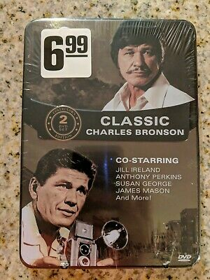 (1C2)  New Classic Charles Bronson 2 DVD Collector's Tin Free shipping