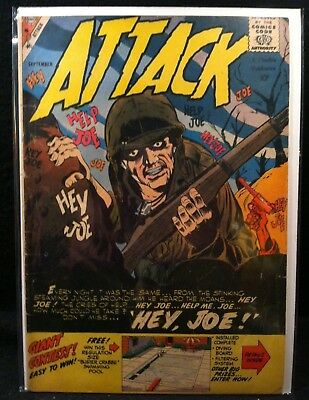 Vintage September 1959 Attack Comic ~ War, Military, Mid-Century, Action