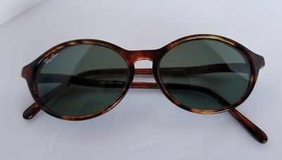 a888fc3282816 Vintage Ray Ban Sunglasses Style W1946 Bausch   Lomb Tortoise Green Lense  Hippie