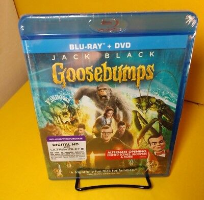 Goosebumps (Blu-ray+DVD+HD Digital,2-Disc Set)NEW(Sealed)-Free S&H with Tracking