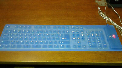 DHY Portable Flexible Silicone Waterproof Standard Roll-Up Keyboard PC Laptop