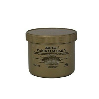 Canikalm Daily, Gold Label, Herbal Dog Supplement, Calms & Controls - Label