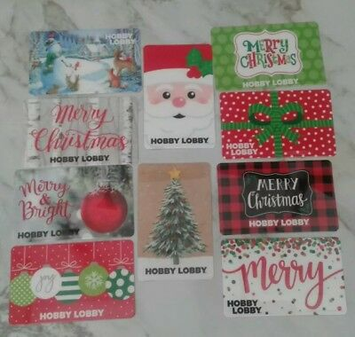 Lot of 10 Hobby Lobby Christmas Theme Gift Cards Collectible, Mint, Beautiful