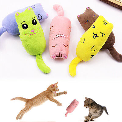 Cute Interactive Fancy Catnip Cat Pillow Funny Toy Teeth Grinding Claws Pets Toy