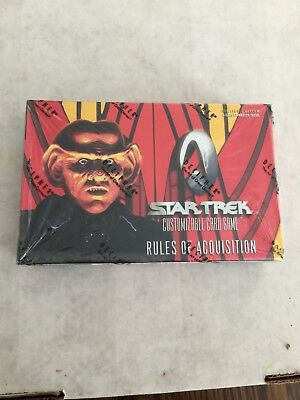 STAR TREK RULES OF ACQUISITION - CCG SEALED BOOSTER BOX - Decipher!