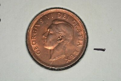 1948 Canadian Cent A To Denticle Bu Red