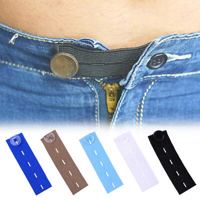 Elastic Waist Extenders Strong Adjustable Pants Button Extenders Comfy Jeans New