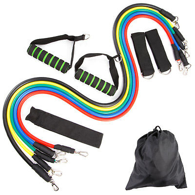 11 Pcs Set Multifunctional Rally Pull Rope Muscle Training Resistance Bands YA