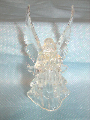 "Christmas 6"" Clear Acrylic Praying Angel Hanging Tree Ornament"