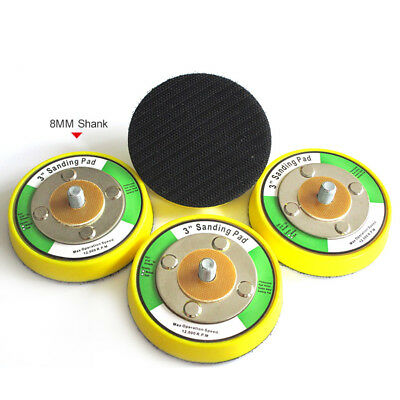 75×15mm DA Random Orbital Sanding Backing Pad Hook Loop M8 T Dual Action Grinder