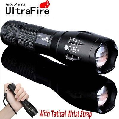 Ultrafire Zoomable Tactical 60000LM LED T6 Flashlight 18650 Torch Light Lamp k
