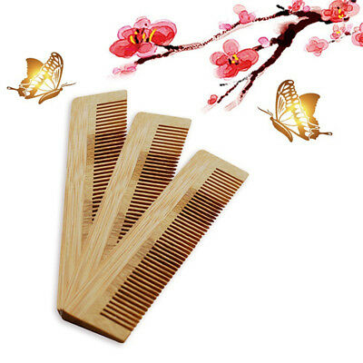 Bamboo Hair Comb Anti Static Massage Natural Care Brush Tooth Handmade 8C