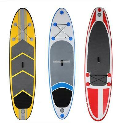 ISUP Adjustable 10' Inflatable Stand Up Paddleboard Paddle Board Surf Board Safe