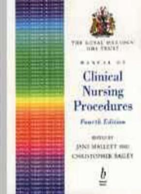 The Royal Marsden Nhs Trust Manual Of Clinical Nursing Procedures,Christopher