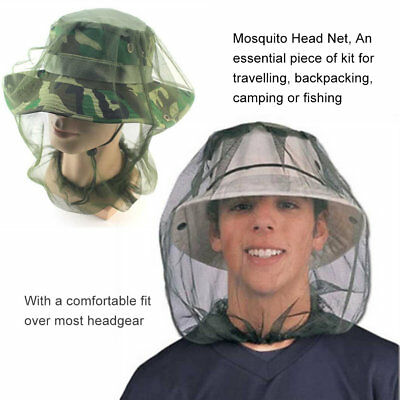 Reliable Mosquito Fly Insect Bee Fishing Mask Face Protect Hat Net Camouflage MT