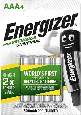 Energizer Pro Battery Charger, Charges AA and AAA Batteries, (4 AA Rechargeable
