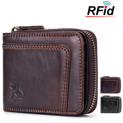 *20% OFF* Mens RFID Genuine Leather Wallet  Blocking Secure 13 Card Slots Purses