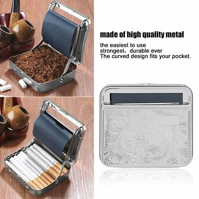Metal Automatic Cigarette Tobacco Roller Roll Rolling Machine Box Case Tin MT