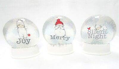 Lot of 3 Baby Angel Snow-Globe Stationary End Cap Holiday Xmas Target Enesco