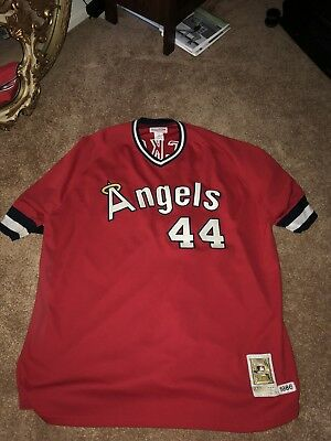 809ea6f5d REGGIE JACKSON MITCHELL And Ness Vintage Angels Jersey Used Size 4XL ...