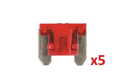 Connect 36846 10amp Low Profile Mini Blade Fuse Pk 5