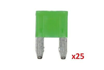 Connect 37175 30amp LED Mini Blade Fuse Pk 25