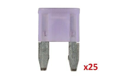 Connect 37167 3amp LED Mini Blade Fuse Pk 25