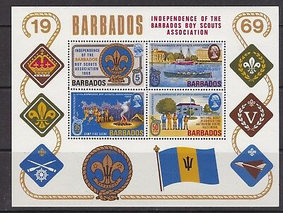 BARBADOS  ^^^^^    MNH  Souv/sheet ( SCOUTS  independance )  $$@ cam3816barba