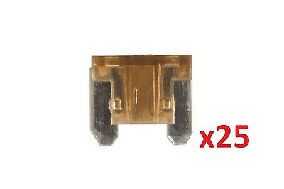 Connect 30439 Low Profile Mini Blade Fuse 7.5-amp Brown Pack 25