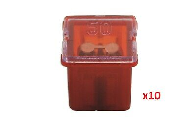 Connect 30486 J Type Auto Low Profile Fuse Red 50-amp Pk 10