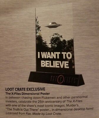 "X-Files ""I Want to Believe"" Loot Crate Exclusive Dimensional Poster"