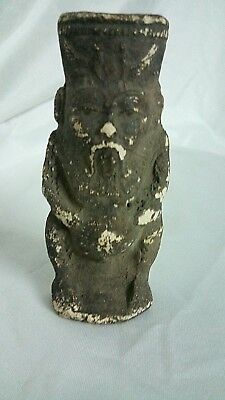 RARE ANCIENT EGYPTIAN ANTIQUE AMULET BES God Limestone Statue Old Kingdom BC